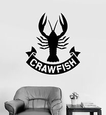 Wall Stickers Vinyl Decal Crawfish Crustacean Bar Seafood for Business (ig304)