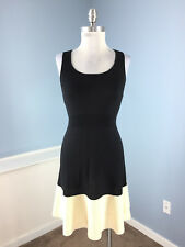 Banana Republic Xs dress Black Ivory Merino Wool A Line Sleeveless Sweater cute