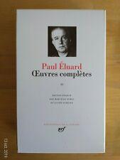 La Pléiade Paul Eluard Complete Works Tome II 1991