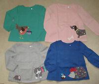 Baby Mini Boden Applique Tunic Kaftan Top 0-3 years Dog Cat Robin Hedgehog