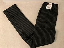 Chef Uniforms CU Pants Black White Stripes Size S