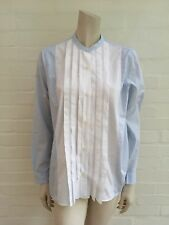 GAP AMAZING Button Down Blue White Tunic Top Shirt Size M Medium