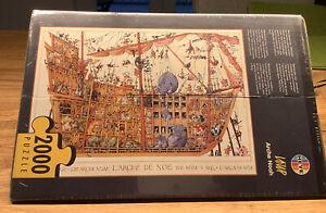 Heye Puzzle und Poster: Arche Noah von J.J. Loup, 2000 Teile, Neu und OVP