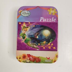 "Disney Faries Tinkerbell 5""x7"" Puzzle In Collector Tin 50 Piece New Sealed"