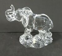 Wonders of the Wild Crystal Clear Glass Elephant Figure Collect Princess House