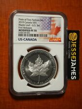 2019 $5 MODIFIED PROOF SILVER MAPLE LEAF NGC PF70 FR FROM PRIDE OF NATIONS SET