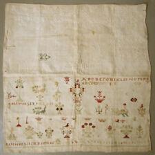 L@K! 18Th C. Antique Dutch Needlework Sampler Cross Stitch Whitework Marken