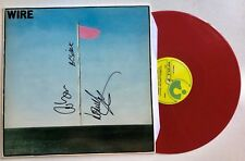 WIRE - PINK FLAG HAND SIGNED RED RECORD AUTOGRAPHED
