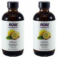 2 x NOW 100% Pure Lemon Essential Oil 4 oz (118 ml),  FRESH, Made In USA