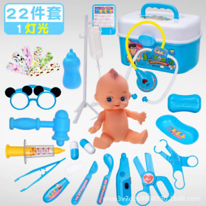 22Pc Pretend Play Toys Toddler Play Set Gift Kids Doctor Playset Girls Nurse Kit
