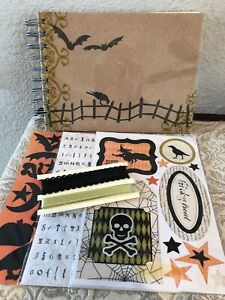 "Halloween Paper Bag Scrapbook Pre-Made Photo Album 10 pages 7"" X 5"""