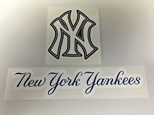 Set Of 2 MLB New York Yankees Vinyl Bumper Sticker Decal Car Truck Laptop