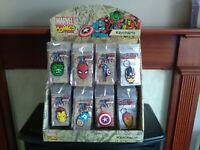 Marvel Comics ~ Rubber Keyrings / Keychains (New ~ Spiderman ~ Hulk ~ More)