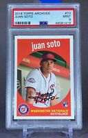 2018 Topps Archives Juan Soto #73 PSA 9 Mint Rookie Card RC Nationals