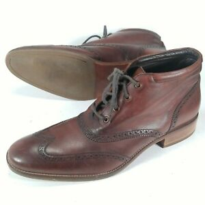 Cole Haan Liam Chukka II Mens Wingtip Leather Ankle Boots Brogue C11053 11.5 M