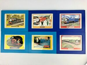 "Thomas the Train Set of 6 Postcards Pictures in Wood Frame Children's Kids 6""x4"""