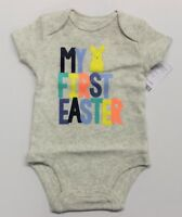 "Carter's Baby ""My First Easter"" Graphic Bodysuit - Heather Grey"