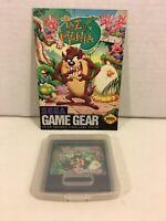 TAZ-MANIA w/ Instruction Manual SEGA Game Gear