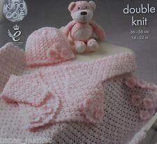 Baby Jacket Hat Blanket * CROCHET PATTERN * Premmie to 1 - 2 years * DK yarn