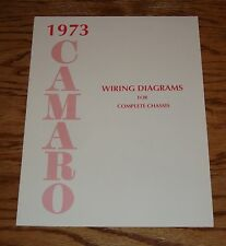 1973 Chevrolet Camaro Wiring Diagram Manual for Complete Chassis 73 Chevy