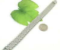 Gatik BR1020 Gents 316L Stainless Steel 5 Row Brick Link Watch Style Bracelet
