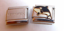 KILLER WHALE 9mm Italian Charm + 1x Genuine Nomination Classic Link OCRA N21