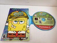SpongeBob SquarePants: Battle for Bikini Bottom SONY PS2 TESTED DISC + MANUAL