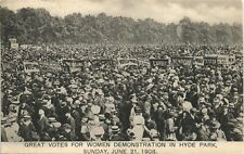 More details for suffragette demonstration in hyde park # 125 by sandle brothers, london.