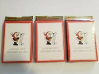 Lot of 3 Vintage Hallmark Christmas Party Invitations, 8 Per Package, Santa List