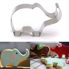 3D Stainless Steel Elephant Shape Bake Biscuit Cookie Cutter Set Decor DIY Mould