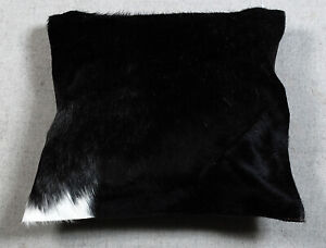 NEW COW HIDE LEATHER CUSHION COVER RUG COW SKIN Cushion Pillow Covers C-5249