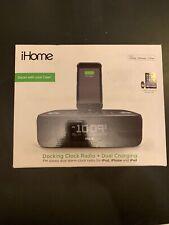 iHome IDL44 iPhone/iPad Lightning Dock Station Radio Digital Alarm Clock Speaker