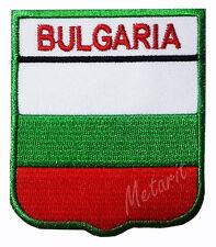 #A14 - BULGARIA Crest Flag Iron On Patch Aufbügler Applique Ecusson Wappe Fahne