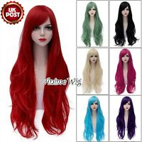 80cm Wavy Heat Resistant Long Women Ladies Basic Anime Lolita Cosplay Wig+Cap