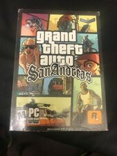 Grand Theft Auto San Andreas-2nd Edition-PC game-Genuine NEW factory sealed-nice