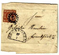 BAYERN, MICHEL #4 II, 6 KR., NICE COVER DATED YEAR 1854 IN EDENKOBEN