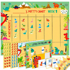 Potty Training Reward Chart for Toddlers – Dinosaur Design - Sticker Chart, 4 –