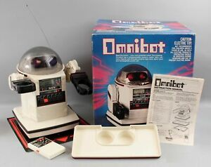 1984 Vintage Tomy OMNIBOT 5402 Remote Control Personal Robot Toy w/ Original Box