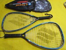 Lot of 2 Ektelon Invader TI F3 925 PL Longbody Racquetball Racquets W/Case