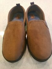 DearFoams Chestnut Brown House Shoes Slippers Men's Medium M 9/10 microsuede