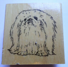Stamp Gallery Pikingese Puppy Dog Wooden Rubber Stamp