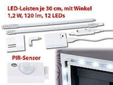 Lunartec 2er-Set LED-Leisten mit Winkel-Verbindung, PIR-Sensor, 120 lm, 12 LEDs
