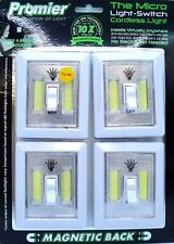 Promier Micro COB LED Wireless Light Under Cabinet RV Kitchen Night Light 4-Pack