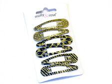 Beautiful Metallic Black Printed Hair Snap Clips Hair Sleepies Lovely Design