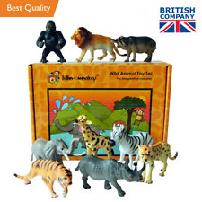 Wild Zoo Safari Animals Toys Figures Set of 9 boxed - direct from the importer