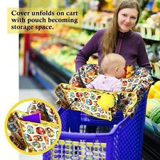 2-in-1 Cotton Shopping Cart Cover | High Chair Cover for Baby