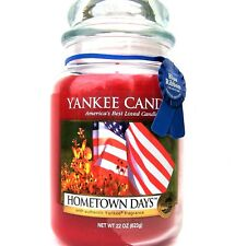 """Yankee Candle Retired """"HOMETOWN DAYS"""" Large 22 oz~WHITE LABEL ~ RARE & VHTF~ NEW"""