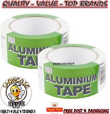 2x Alluminio Nastro Adesivo Forte E Affidabile a prova di calore 48mm x 25m - 151 Brand