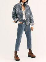 Free People Womens OB971426 Jacket Relaxed Indigo Blue Size XS