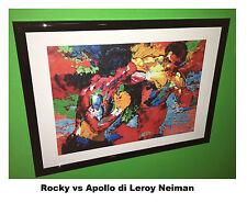 """ROCKY vs APOLLO"""" di LeRoy Neiman - riproduzione stampa  - 35x25"""